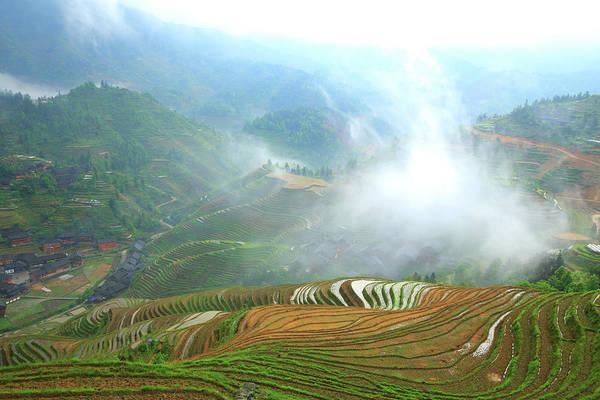 Wall Art - Photograph - Dazhai Terraced Field by Bihaibo