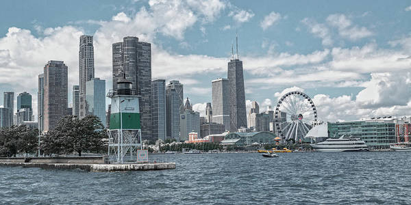 Wall Art - Photograph - Dazzling Day Navy Pier Chicago by Betsy Knapp