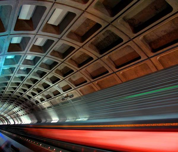On The Move Photograph - Dc Subway by Patrick Yuen