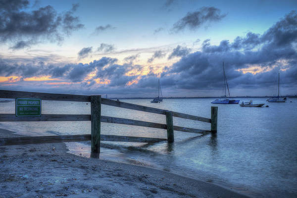 Wall Art - Photograph - Sunset With Sailboats by Mike Deutsch