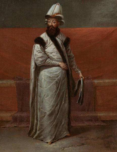 Painting - De Grootvizier Nevsehirli Groom Nevbrahim Pasa by Jean Baptiste Vanmour