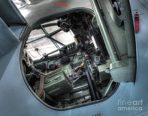 Ju 52 Wall Art - Photograph - De Havilland Mosquito Dh-98 Cockpit by Greg Hager