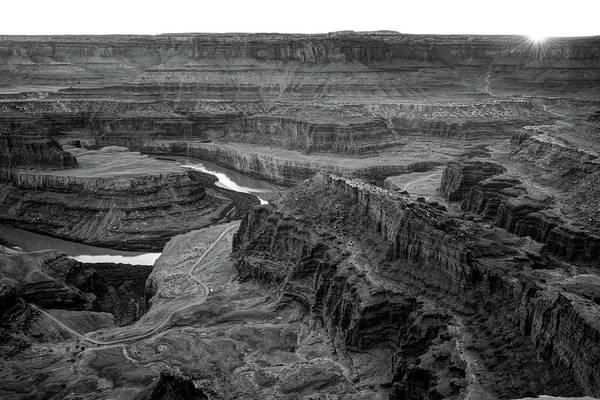 Photograph - Dead Horse Point State Park Monochrome Landscape by Gregory Ballos