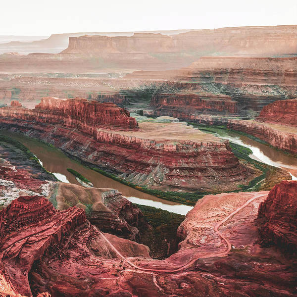 Photograph - Dead Horse Point Sunset And Horseshoe Bend - Moab Utah 1x1 by Gregory Ballos