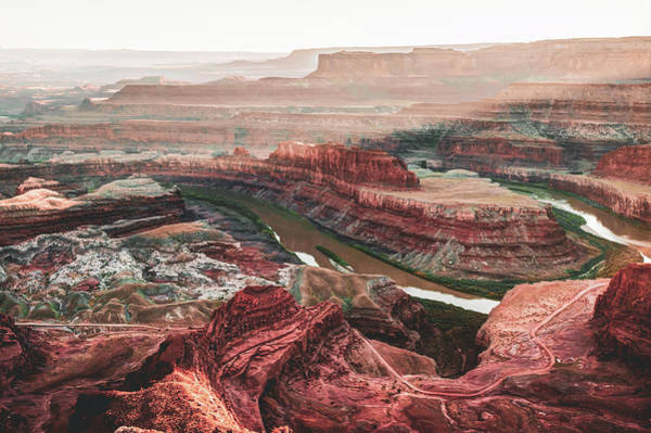 Photograph - Dead Horse Point Sunset And Horseshoe Bend - Moab Utah by Gregory Ballos