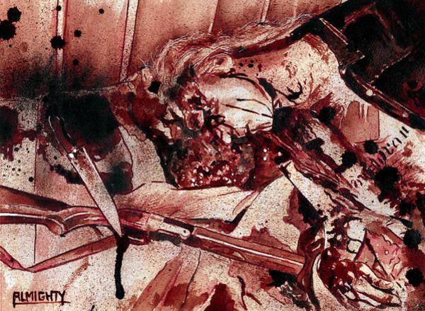Serial Killer Painting - Dead / Mayhem Dry Blood by Ryan Almighty