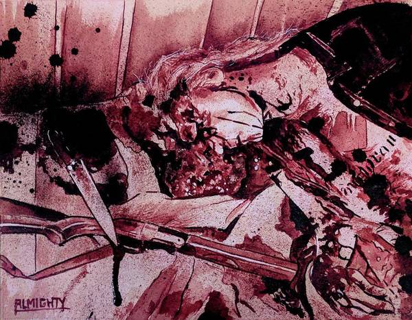 Serial Killer Painting - Dead / Mayhem Fresh Blood by Ryan Almighty