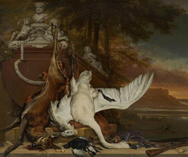 Painting - Dead Swan by Jan Weenix