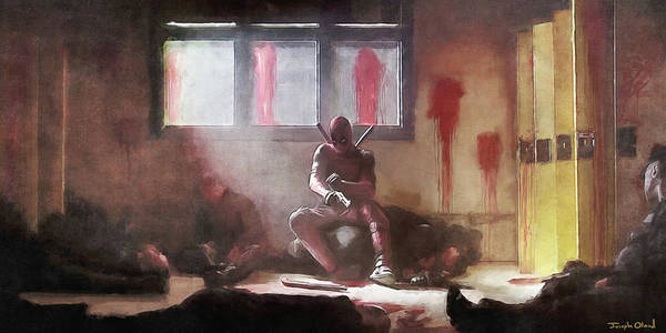 Super Hero Mixed Media - Deadpool Reloads by Joseph Oland