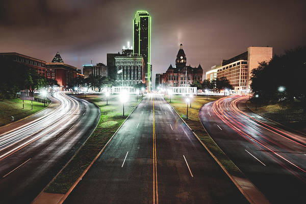 Wall Art - Photograph - Dealey Plaza Skyline - Dallas Texas by Gregory Ballos