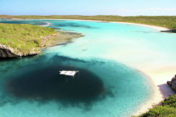 Coastline Photograph - Deans Blue Hole.bahamas by Enn Li  Photography
