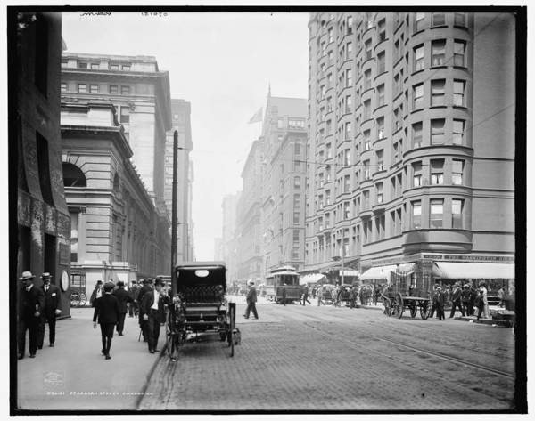 Lake District Painting - Dearborn Street, Chicago, Ill. 1907 by Celestial Images