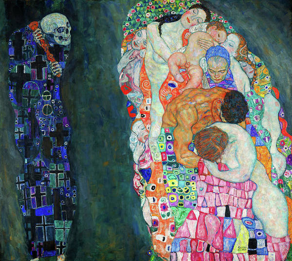 Wall Art - Painting - Death And Life, 1915 by Gustav Klimt