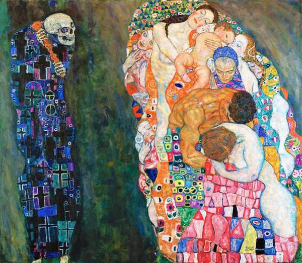 Wall Art - Painting - Death And Life - Digital Remastered Edition by Gustav Klimt