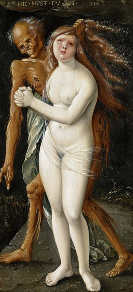 Wall Art - Painting - Death And The Maiden, 1517 by Hans Baldung