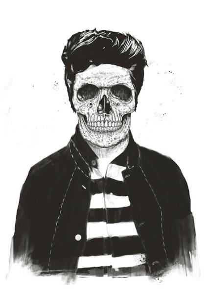 Wall Art - Drawing - Death Fashion by Balazs Solti