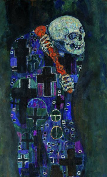 Wall Art - Painting - Death by Gustav Klimt