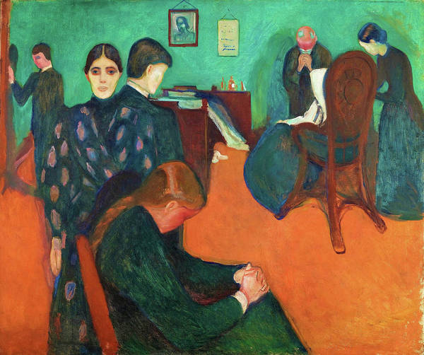 Wall Art - Painting - Death In The Sickroom - Digital Remastered Edition by Edvard Munch