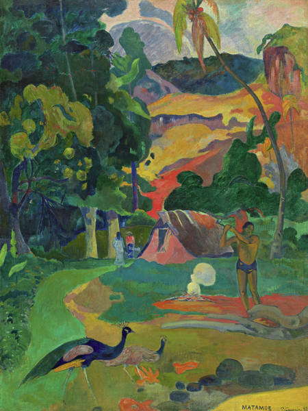 Gauguin Painting - Death, Landscape With Peacocks, 1892 by Paul Gauguin