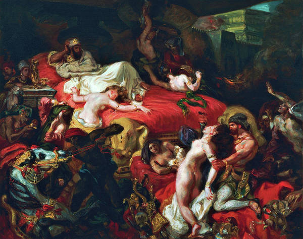 Wall Art - Painting - Death Of Sardanapalus - Digital Remastered Edition by Eugene Delacroix