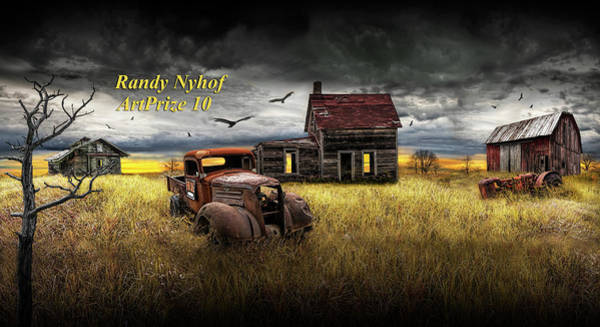 Photograph - Death Of The Small Farm by Randall Nyhof