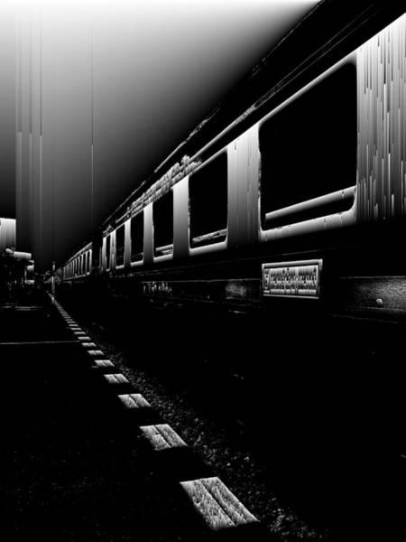 Wall Art - Digital Art - Death Railway by GLASSLABS by Susanne Layla Petersen