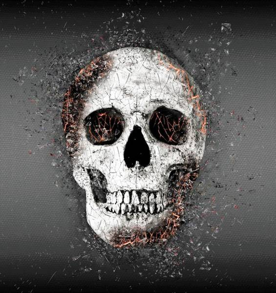 Fire Dance Wall Art - Digital Art - Death Skull by ArtMarketJapan