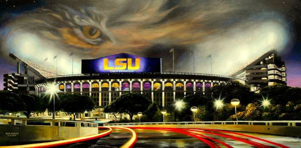 Stadium Painting - Death Valley Game Time by Mike Roberts