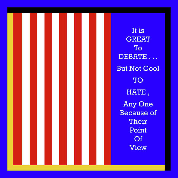 Digital Art - Debate - But Maintain Civility by Joseph Coulombe