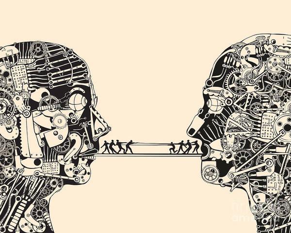 Communication Wall Art - Digital Art - Debate. The Science Of Communication by Ryger