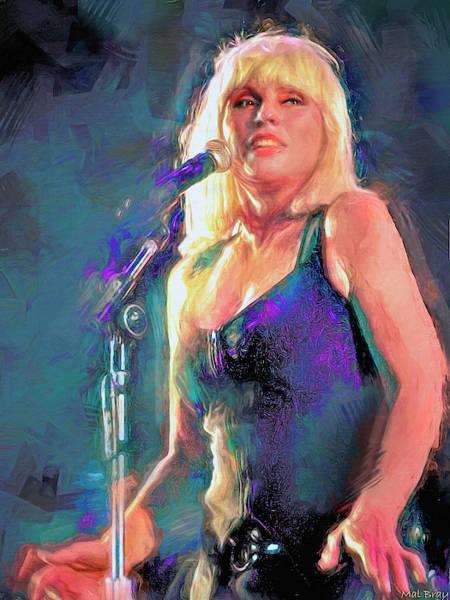 Wall Art - Mixed Media - Debbie Harry Blondie by Mal Bray