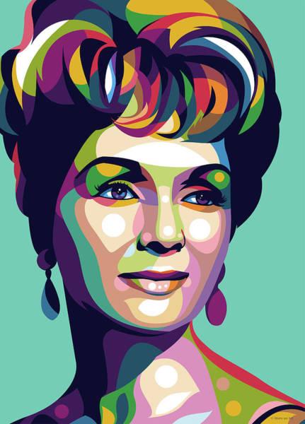 Digital Art - Debbie Reynolds by Stars on Art