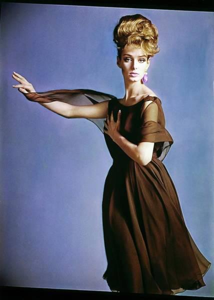 Dixon Photograph - Deborah Dixon In Adele Simpson by Bert Stern