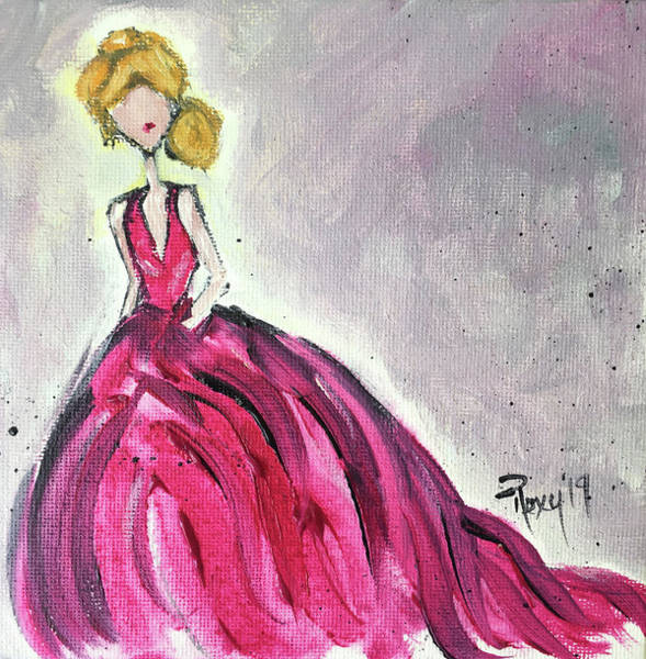 Wall Art - Painting - Debutante by Roxy Rich