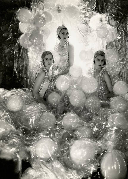 Photograph - The Debutantes In Costume by Cecil Beaton
