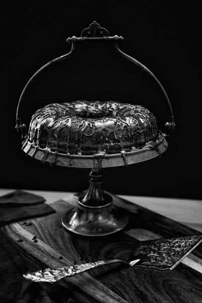 Wall Art - Photograph - Decadent Bundt Cake In Black And White by Marnie Patchett