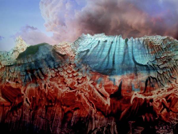 Digital Art - Decalcomaniac Eruption by Otto Rapp