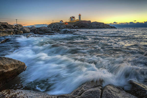 Photograph - December Dawn At Cape Neddick by Rick Berk