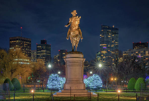 Photograph - December Evening In Boston's Public Garden by Kristen Wilkinson