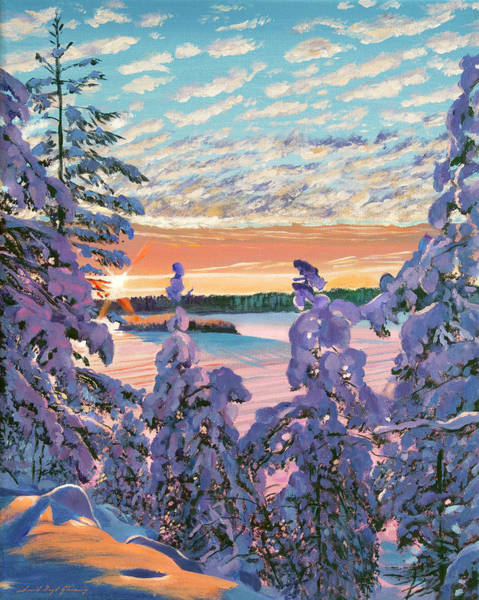 Painting - December Morn by David Lloyd Glover