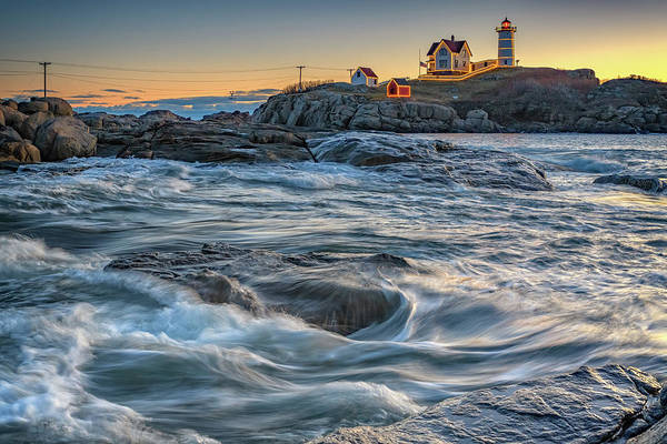 Photograph - December Morning At The Nubble by Rick Berk