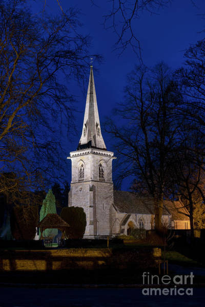 After Dark Photograph - December Night Lower Slaughter by Tim Gainey