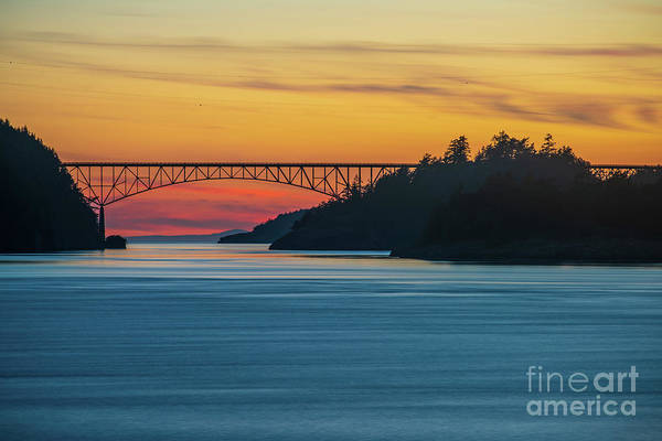 Wall Art - Photograph - Deception Pass Bridge Sunset Light by Mike Reid