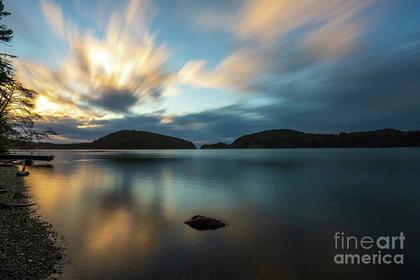 Wall Art - Photograph - Deception Pass Dusk Tranquility by Mike Reid