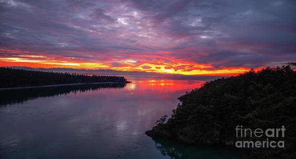 Wall Art - Photograph - Deception Pass Sunset Landscape by Mike Reid