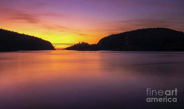 Wall Art - Photograph - Deception Pass Sunset Serenity by Mike Reid