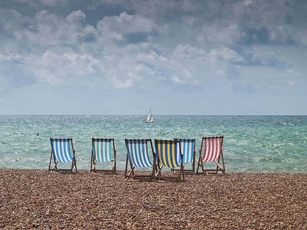 Deck Chair Photograph - Deck Chairs And Yacht by Darren Lehane