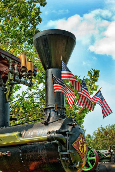Photograph - Decked Out With American Flags by Paul W Faust -  Impressions of Light