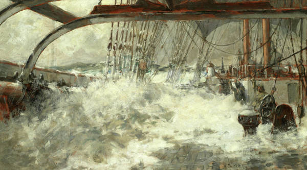 Collapse Painting - Decks Awash by Arthur John Trevor Briscoe