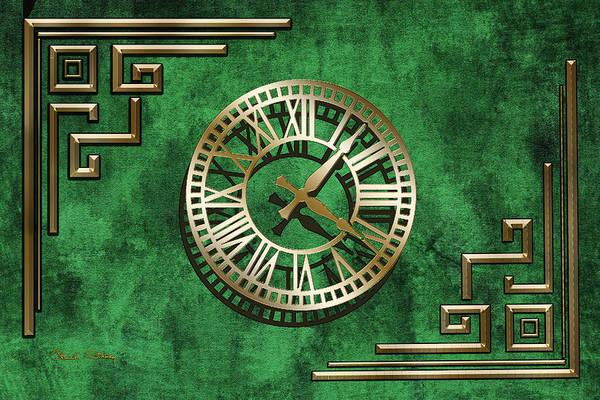Digital Art - Deco Design 4 On Emerald by Chuck Staley